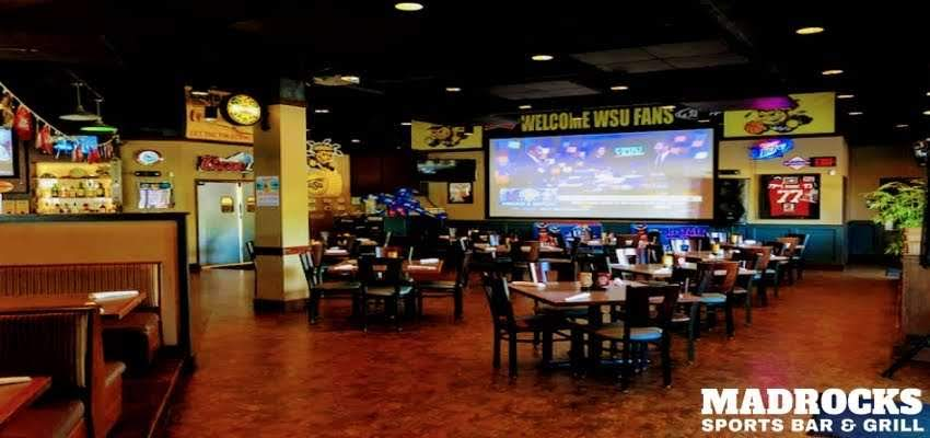 Represented here is a photo for event catering space at a Derby Kansas Bar and Grill | Madrocks Restaurant & Bar
